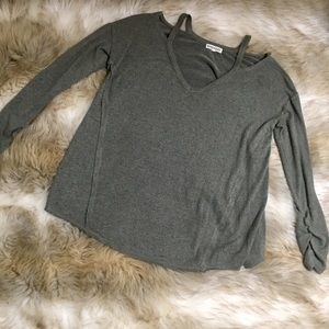 Inspired Hearts Green/Grey Sweater